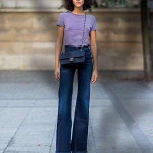 LOFT Flare Jeans dark wash denim Womens 6
